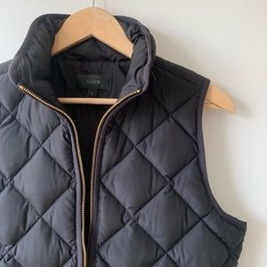 J CREW Puffer Jacket Black Size S